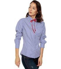blusa manga larga de cuadros viveka s5268