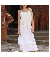cotton skirt, 'blissful summer' (india)