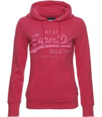 superdry vintage logo tonal embroidered hoodie