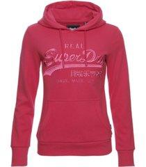 superdry vintage logo tonal embroidered hoodie