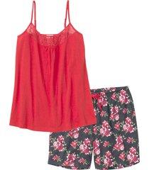 pigiama con pantaloncino lungo (grigio) - bpc selection