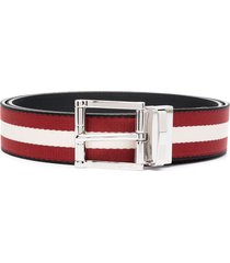 bally taylan striped belt - red