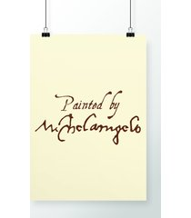 poster painted by michelangelo