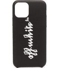 off-white logo-print iphone 11 pro case - black
