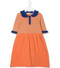 caramel portobello cotton dress - orange