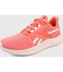 tenis running coral-blanco reebok energylux 3