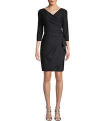 wrap sheath dress