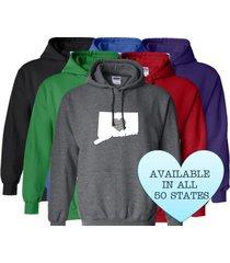 connecticut hoodie sweatshirt love home heart unisex men women state