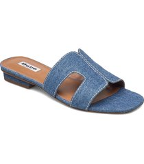 loupe shoes summer shoes flat sandals blå dune london