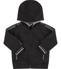 black sweatshirt for babykids with logos