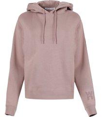 rose beige foundation terry hoodie