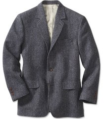 lightweight highland tweed sport coat / regular, blue/gray, 38