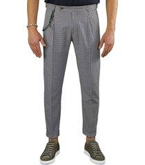 berwich retro vichy brown chino trousers