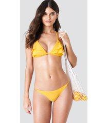j&k swim x na-kd thin side bikini brief - yellow