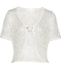 bolero in maglia con paillettes (bianco) - bpc selection premium