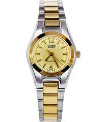 reloj casio ltp-1253sg-9a lujoso para dama dorado