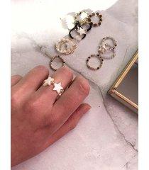 pierścionek elastyczny - gwiazdki