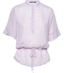 checks beatrice shirt blouses short-sleeved bruuns bazaar