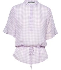 checks beatrice shirt blouses short-sleeved bruuns bazaar