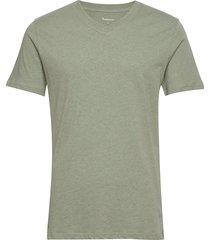 alder basic v-neck tee - gots/vegan t-shirts short-sleeved grön knowledge cotton apparel