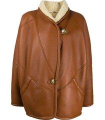 a.n.g.e.l.o. vintage cult 1980s shawl collar coat - neutrals