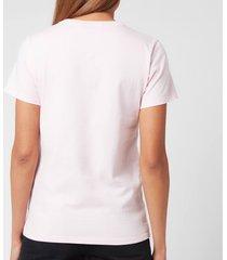 maison kitsuné women's palais royal classic t-shirt - light pink - s