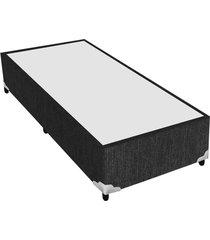 base cama box preto para colchão solteiro 88 x 188 x 25 plumatex 37 cm plumatex preto