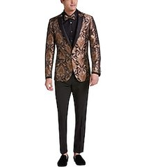 paisley & gray slim fit suit separates formal coat gold & bronze paisley