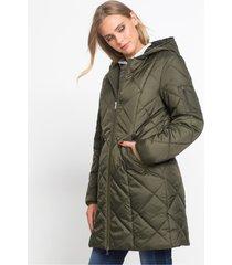 gewatteerde jas in twee kleuren