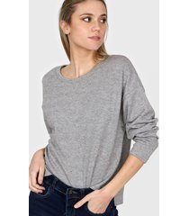 sweater gris nano lurex cuello u pq40