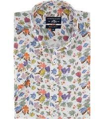 overhemd korte mouwen state of art bloemenprint