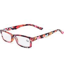 occhiali da lettura quadrati per pc vintage in resina moda vintage da donna