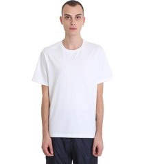 thom browne relaxed fit ss tee white cotton t-shirt