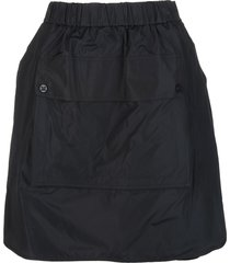 max mara elide skirt in black taffeta and silk