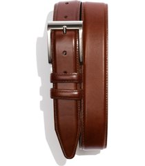 men's allen edmonds classic wide belt, size 32 - chili