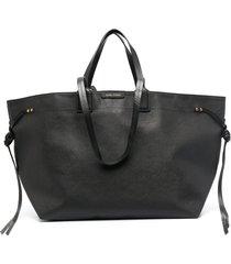 isabel marant wydra slouchy tote bag - black