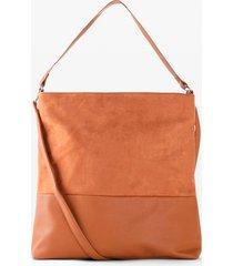 borsa shopper in similpelle scamosciata (marrone) - bpc bonprix collection