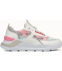 d.a.t.e. sneakers fuga glitter silver multicolore