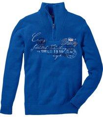 maglione con cerniera regular fit (blu) - bpc selection