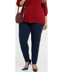 calça feminina legging textura plus size