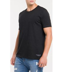 kit duas camisetas masculinas básicas preta calvin klein - s