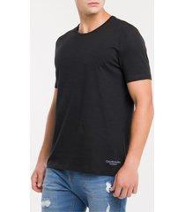 kit 2 camisetas de cotton gola careca - s