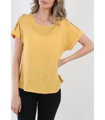 blusa boton amarilla night concept