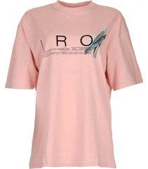 t-shirt met logoprint olcott  roze
