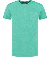 shiwi heren t-shirt slub mint groen