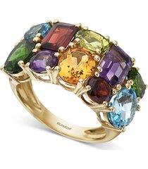 effy multi-gemstone statement ring (7-1/5 ct t.w.) in 14k gold