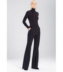 bistretch pants, women's, black, size 0, josie natori