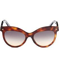 bally women's 55mm cat eye sunglasses - dark havana