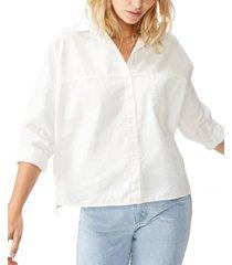 cotton on oversize drop shoulder shirt