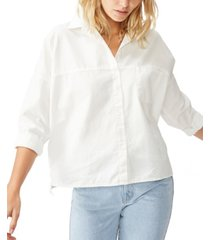 cotton on oversize drop shoulder shirt